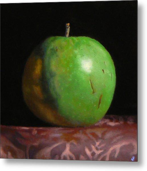 Green Apple Number 4 Metal Print by Jeffrey Hayes
