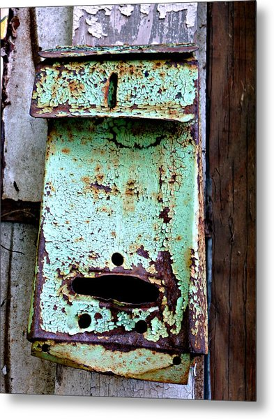 Green Mailbox Metal Print