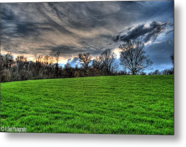 Green Meets Blue Metal Print by Heather  Boyd