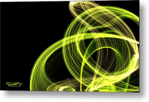 Green Over Black Metal Print by TanyDi Tany Dimitrova