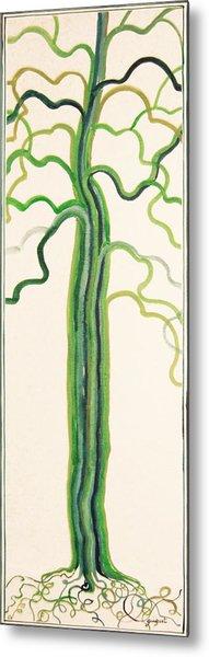 Green Sap Metal Print by Alain Guiguet