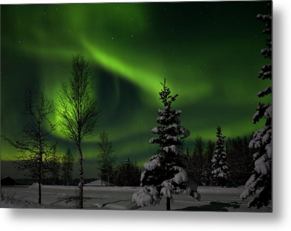 Green Skies Metal Print