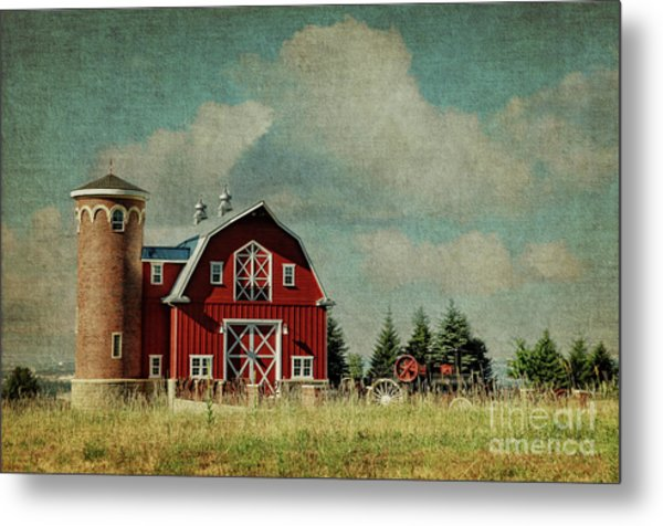 Greenbluff Barn Metal Print