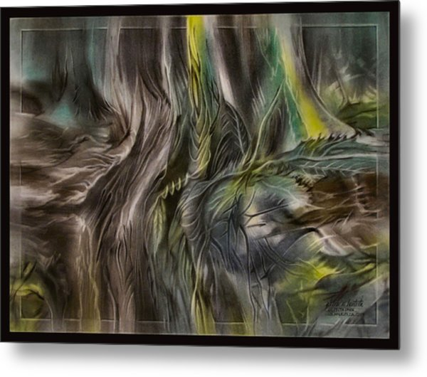Greenleaves Turn To Brown4  2009 Metal Print