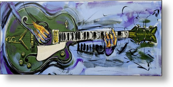 Gretsch Guitar Metal Print