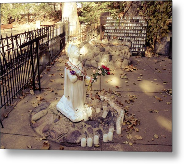 Grotto At Notre Dame Metal Print
