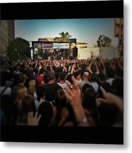 Grouplove Performing At The Pasadena Metal Print