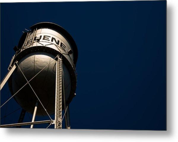 Gruene Water Tower Metal Print
