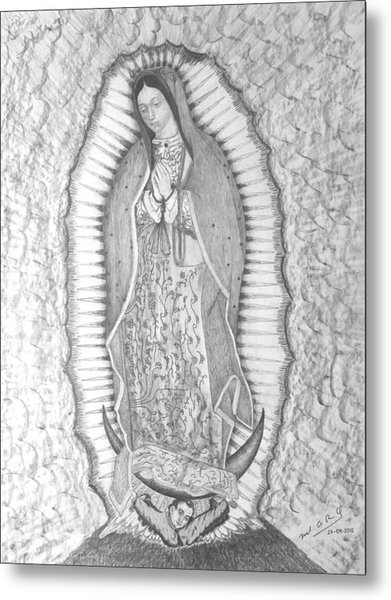 Guadalupe Metal Print by Miguel Rodriguez