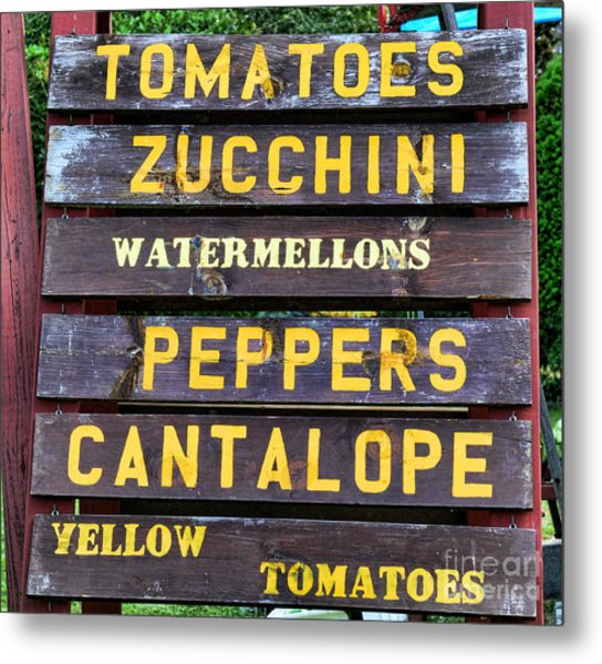 Guaranteed Farm Fresh Foods  Metal Print