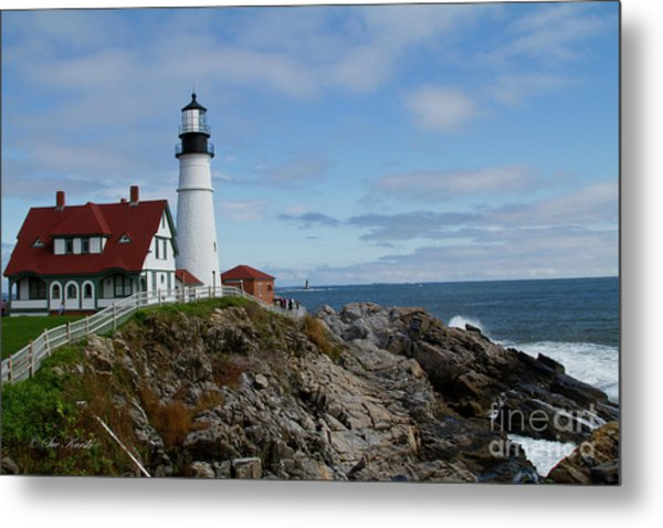 Guarding Ship Safety Metal Print