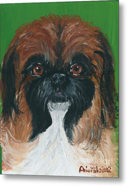 Gucci The Peke Metal Print
