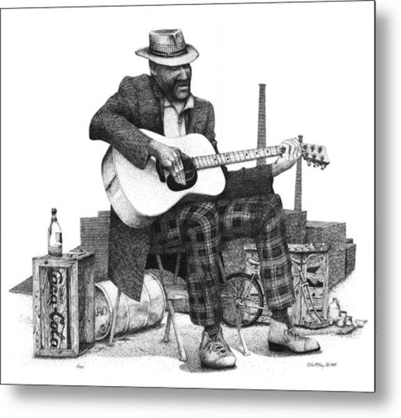 Guitar Guy 2 Metal Print by Olin  McKay