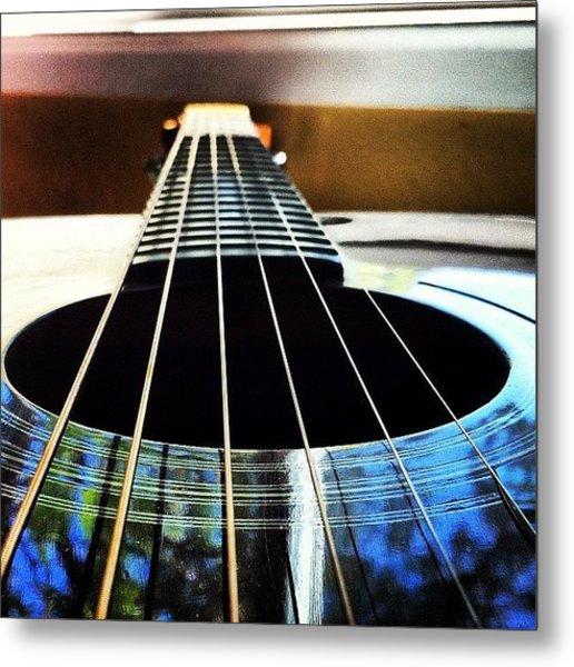#guitar #instrument #music #cool #depth Metal Print