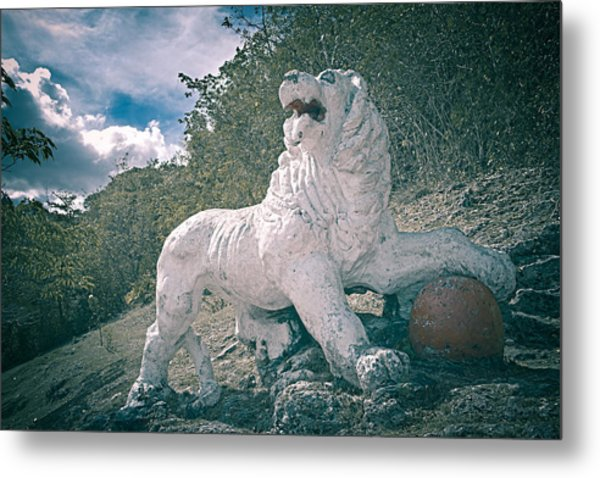 Gun Hill Lion Metal Print