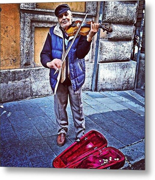 Gypsy Violin #travel #violin #gypsy Metal Print