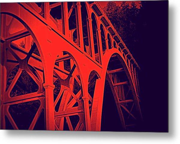 Haceta Head Bridge Metal Print