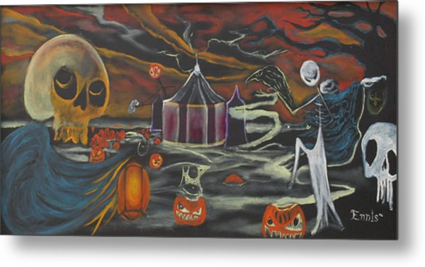 Halloween Circus Metal Print