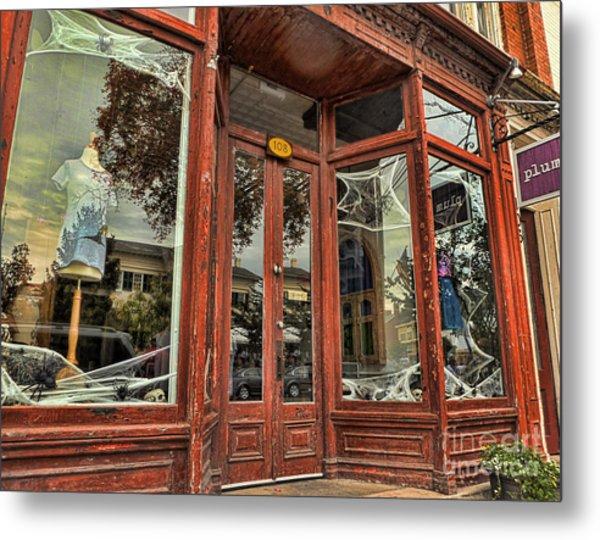 Halloween Storefront - Shepherdstown Wv Metal Print