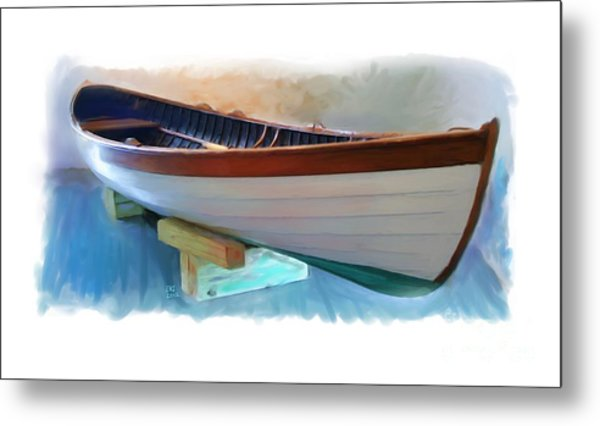 Hand Crafted Boat Painting Metal Print by Earl Jackson