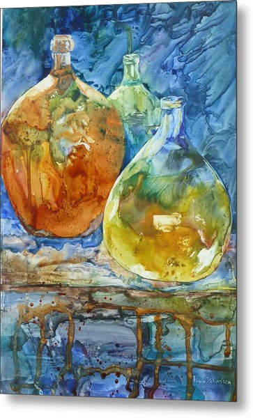 Metal Print featuring the painting Handblown by Paula Robertson