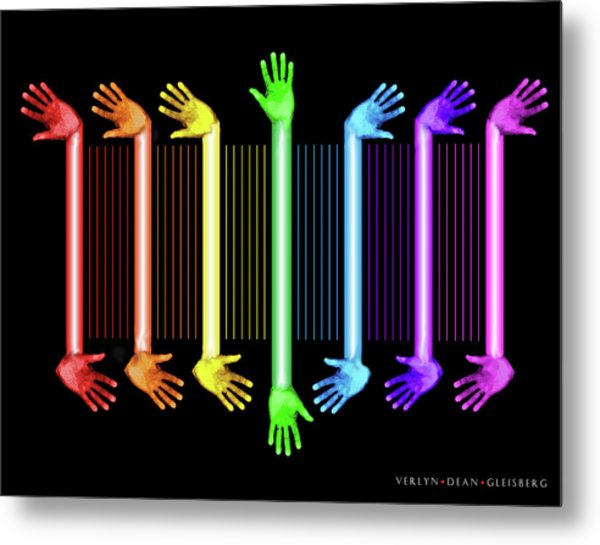 Hands Of The Artist Metal Print
