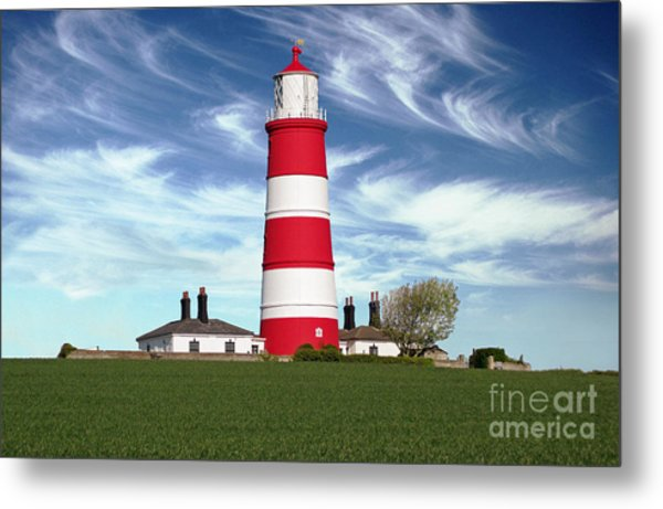 Happisburgh Lighthouse - Norfolk Metal Print by Rod Jones
