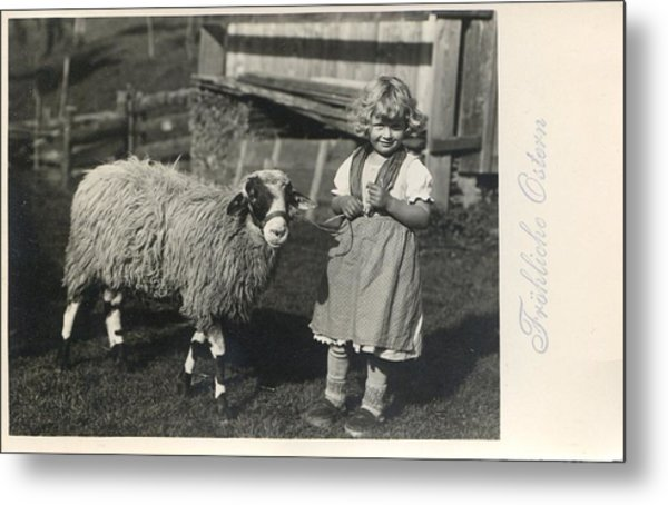 Happy Easter 1935 Metal Print