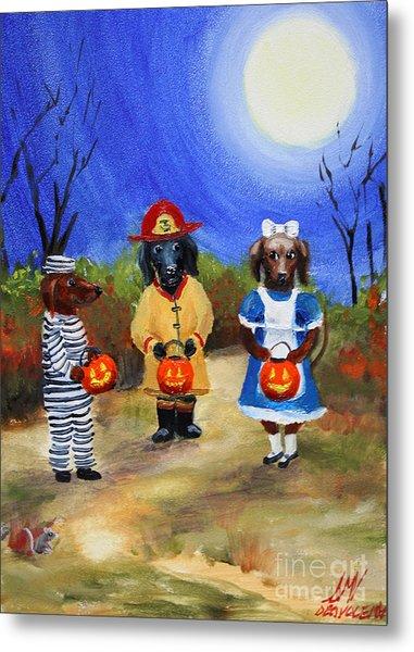 Happy Halloweenies Fireman Alice Prisoner Metal Print by Stella Violano
