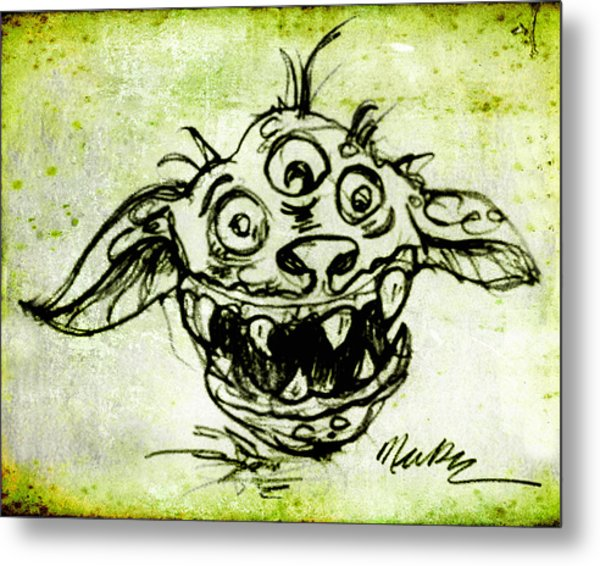 Happy Monster  Metal Print