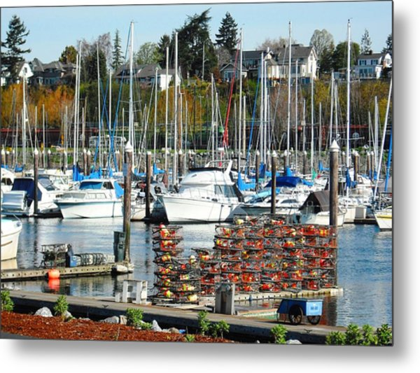 Harbor At Bellingham Metal Print