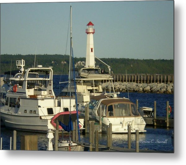 Harbor Collection - St. Ignace Mi Metal Print