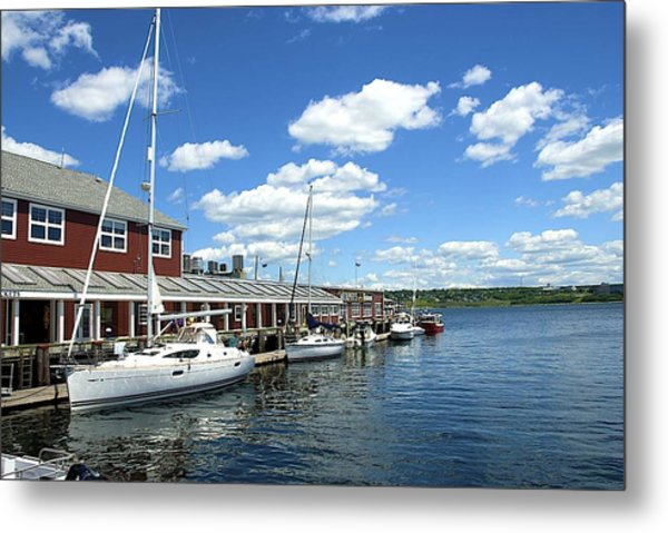 Metal Print featuring the photograph Harbor   by Ralph Jones
