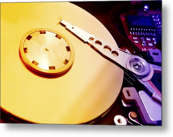 Hard Disk Detail Metal Print