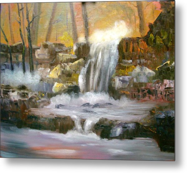 Hard Rock Falls Metal Print