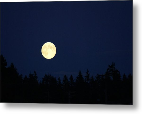 Harvest Moon Metal Print by Jerry Cahill