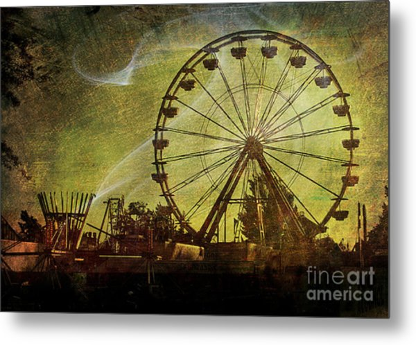 Haunted Midway Metal Print