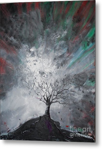 Haunted Tree Metal Print