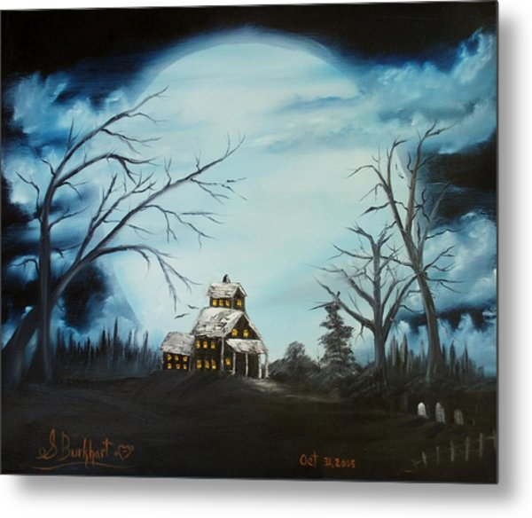 Hauted Mansion 2005  Metal Print by Shawna Burkhart