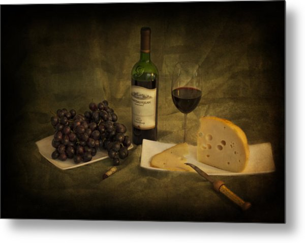 Have A Glass Of Red Metal Print