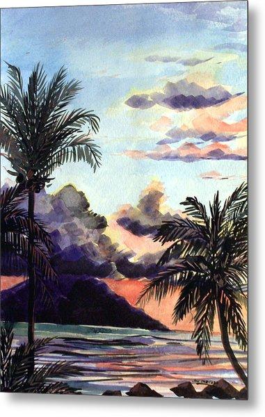 Hawaiian Sunset Metal Print by Jon Shepodd