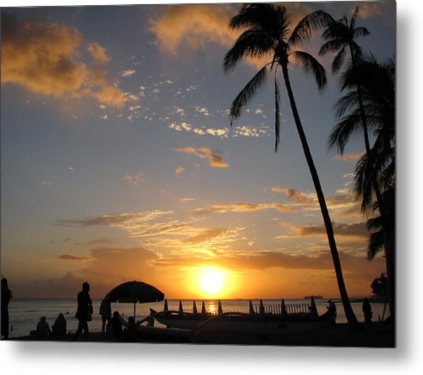 Hawaiian Sunset Metal Print by Yula Sander