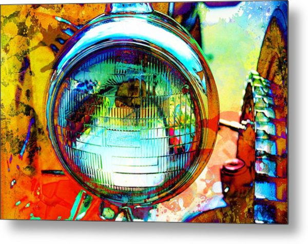 Headlight Classic Metal Print by Anthony George