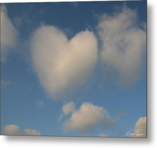 Heart In The Clouds Metal Print