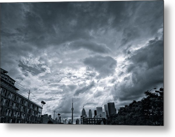 Heavy Sky Metal Print by Luba Citrin