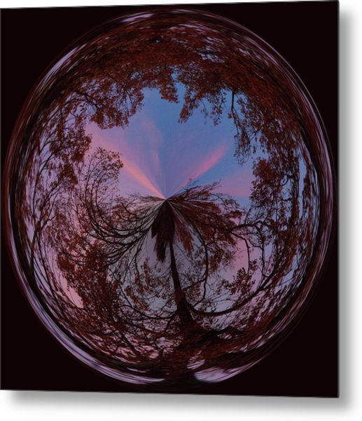 Hendersonville Sunset Orb Metal Print
