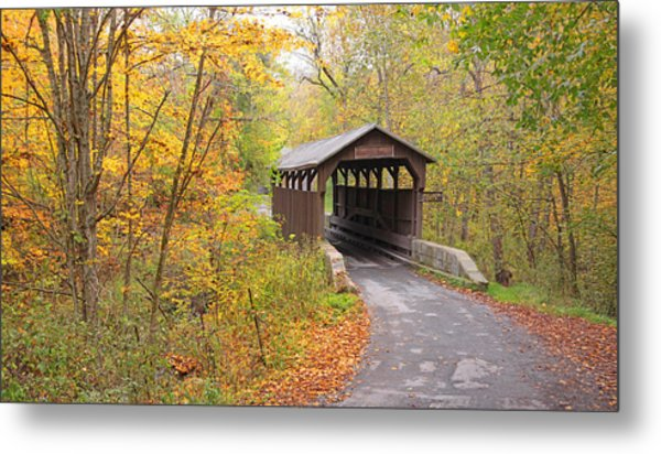 Herns Mill Covered Bridge Metal Print