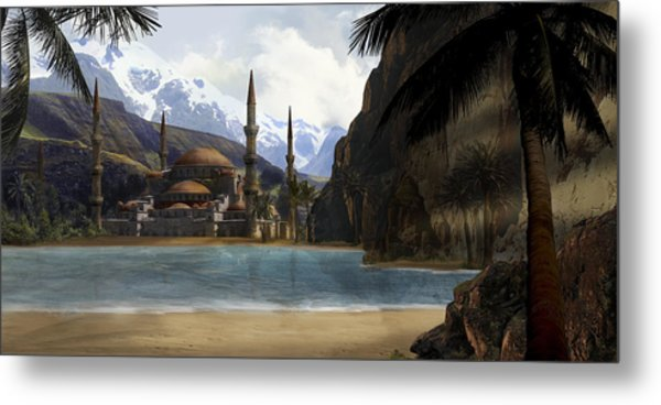 Hidden In The Mountains Metal Print