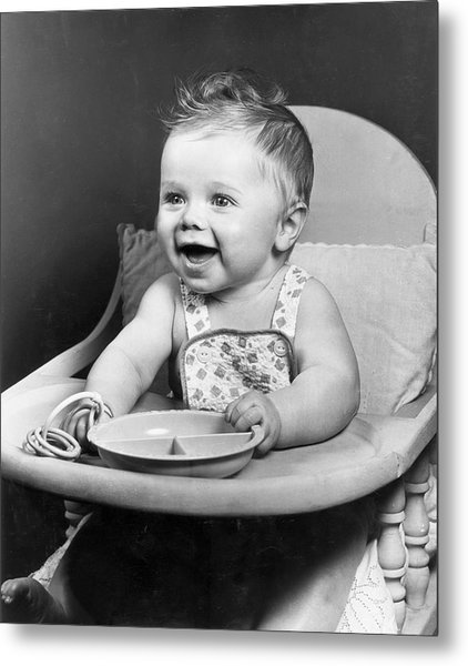 High Chair Hijinks Metal Print by Archive Photos