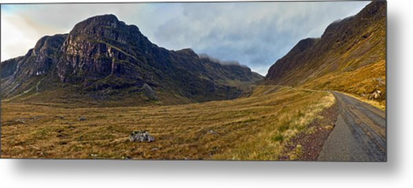 Highland Cliff Panorama Metal Print